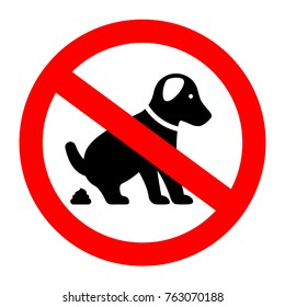 No dog poop vector symbol illustration isolated on white background