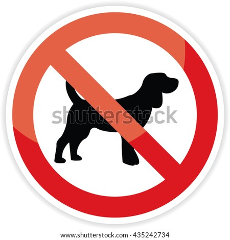 ba12d6fc380e No Dog Sign On White Backgroundvector Stock Vector (Royalty Free ...