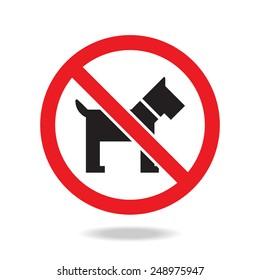 No dog sign and symbol