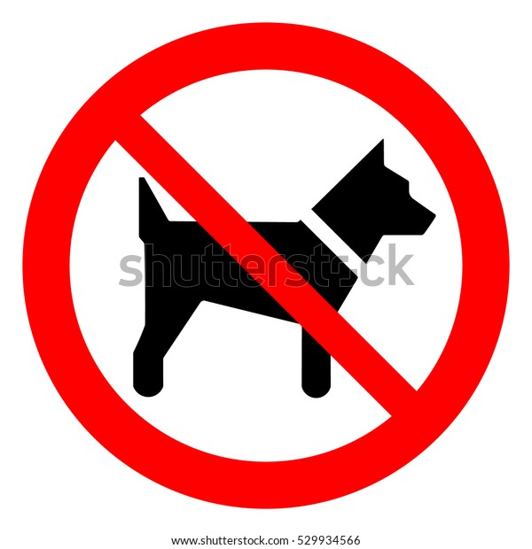 No dogs allowed. Dog prohibition sign, vector illustration.