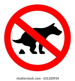 No dogs poop vector sign isolated on white background