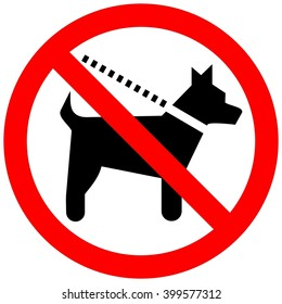 No Dogs. Sign