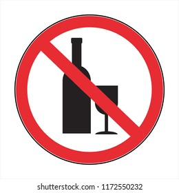 no drink! the abstract sign