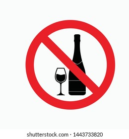 no drink sign icon vector isolated