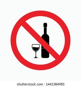no drink sign symbol icon vector