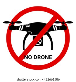 No drone icon vector. Quadrocopter vector  illustration. Drone flat graphic