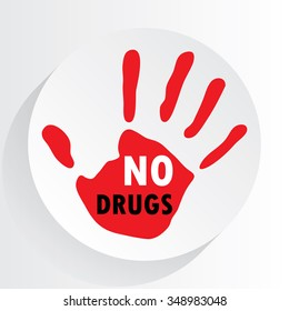 """ No drugs "" symbol."