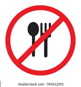 no eat vector icon