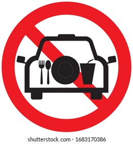 No eating in the car