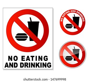 No eating and drinking