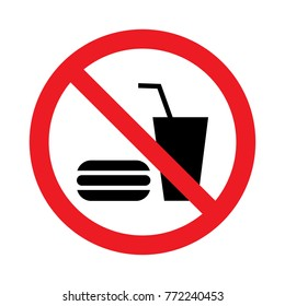 No eating or drinking logo