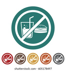 No eating icon.Vector illustration