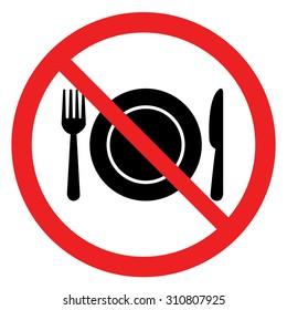 No eating sign,No Food Sign