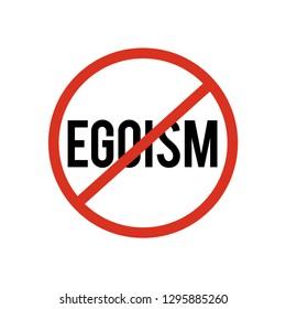 no egoism sign symbol