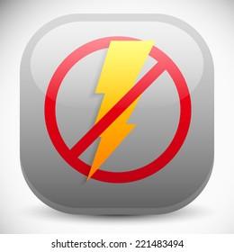 No electricity, blackout icon