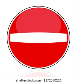 No entry (do not enter!) relief traffic sign