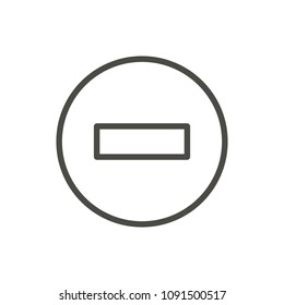 No entry icon vector. Line stop road symbol isolated. Trendy flat outline ui sign design. Thin linear graphic pictogram for web site, mobile app. Logo illustration. Eps10.