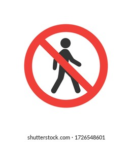 no entry sign, no entry, hapreschen people input, editable vector illustration on white background