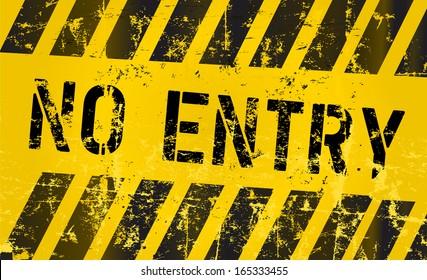 No entry sign, vector Illustration