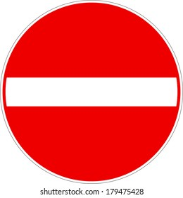 No Entry Traffic Sign Vector eps10