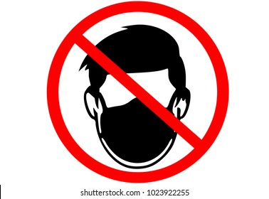 No face mask wearing zone sign illustration vector