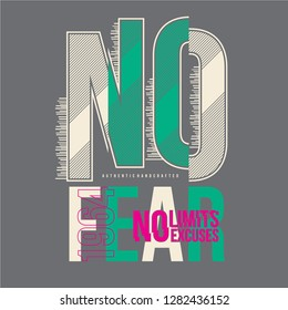 no fear typography graphic design ready print for t shirt