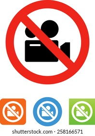 No filming allowed icon