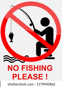no fishing please, sign
