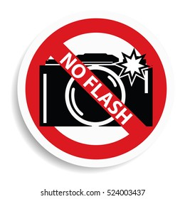 No flash sign on white background.vector illustration