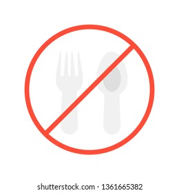 No food allowed vector illustration, Ramadan related flat style icon