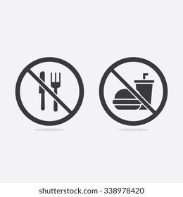 No Food or Beverages Vector Sign Illustration