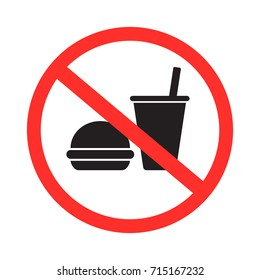 no food and drink allowed icon vector
