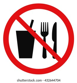 No food or drink area sign