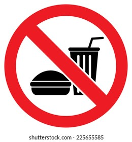 no food allowed symbol isolated on stock vector hd (royalty free