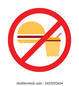 No Food Sign. flat illustration of No Food vector icon for web
