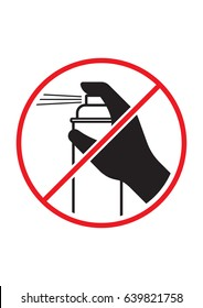 No graffiti allowed aerosol paint can ban spray restriction black red and white vector sign symbol logo