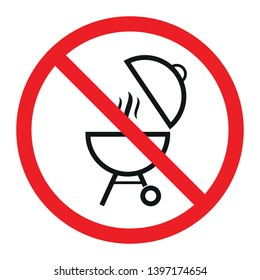 No grill symbol. Isolated vector illustration