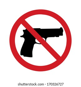 no gun sign - isolated illustration
