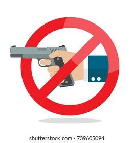 No gun weapon sign. Vector illustration