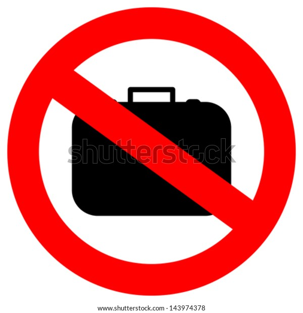No hand baggage vector sign