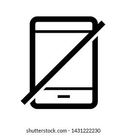 no handphone line icon design