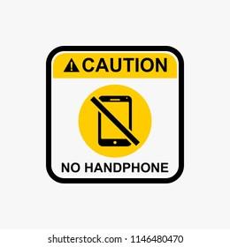 No handphone sign warning icon design vector