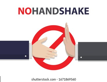 No handshake concept in a flat design. Business hands Vector illustration