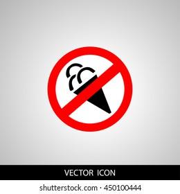 No ice cream symbol