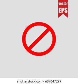 No icon in trendy isolated on grey background.Vector illustration.