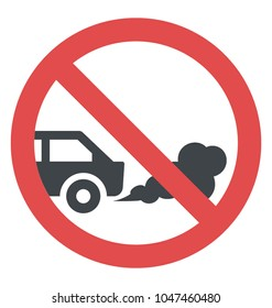 No idling warning sign