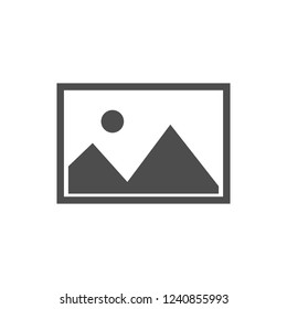 No image available icon. Flat, vector illustration.
