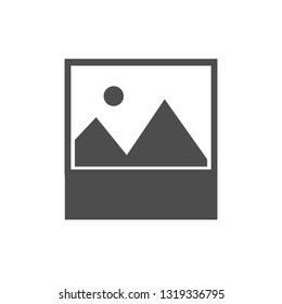 No image available icon. Vector illustration, flat design.