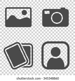 No image available or Picture coming soon. Set of pictures . Missing image sign or uploading pictures. Vector.