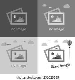 No image creative signs in grayscale. Internet web icon to indicate the absence of image until it will be downloaded.